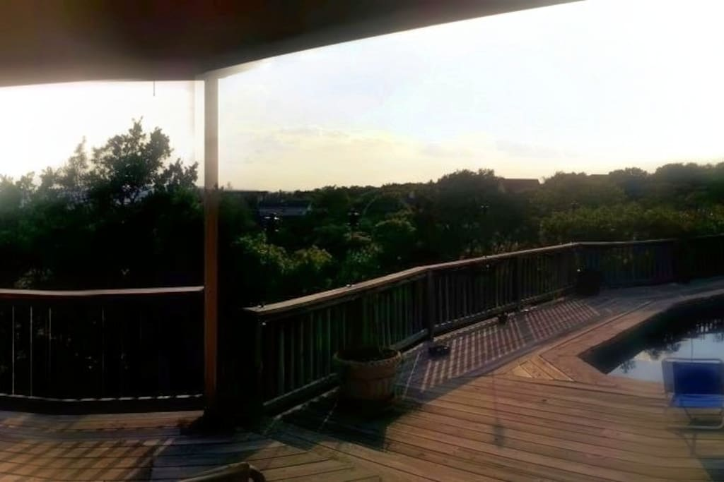 Incredible deck view with 360 degree views of the valley and the scenic pool