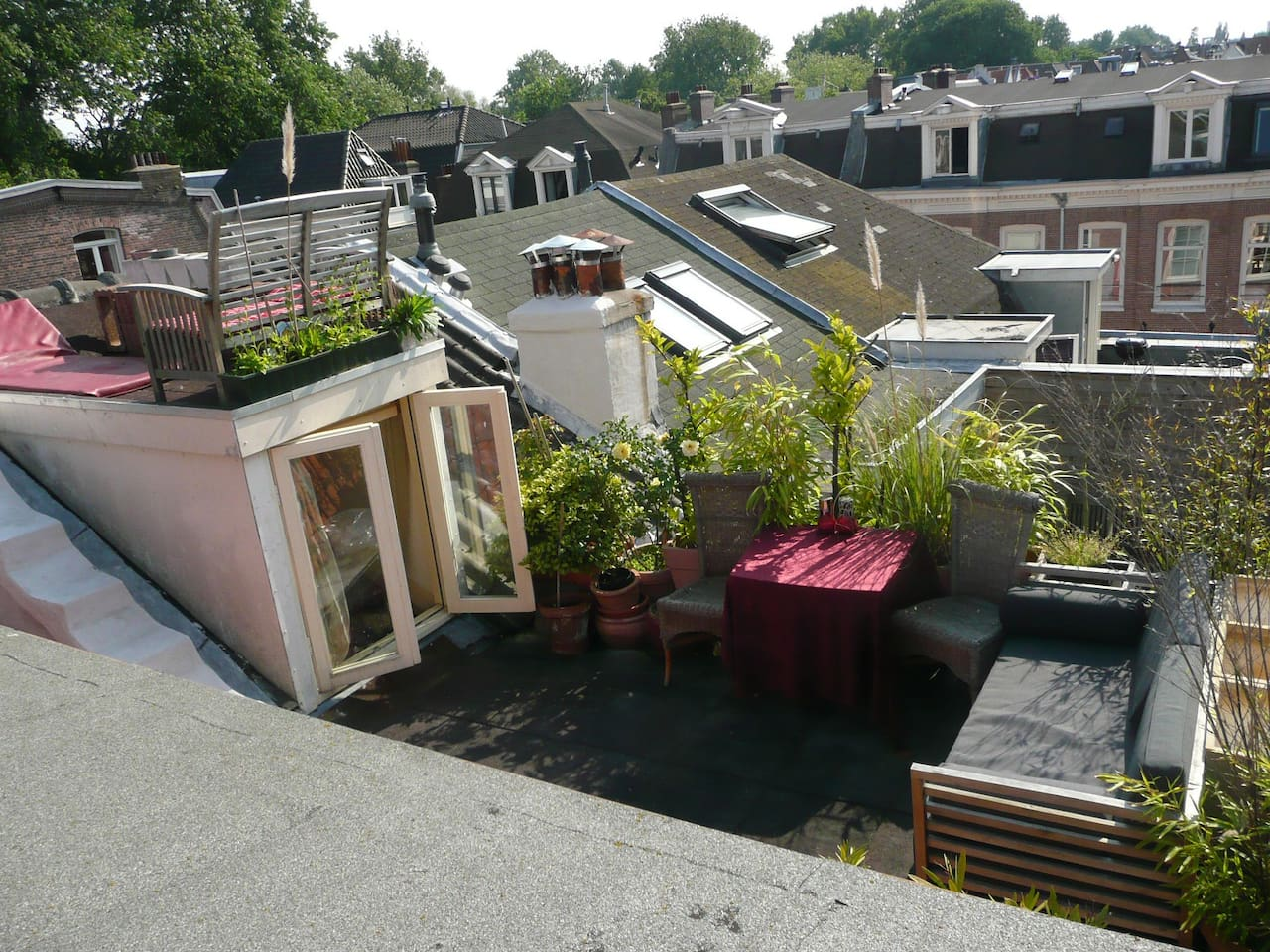 Amsterdam feel: 2 roof terraces, lounging, view park