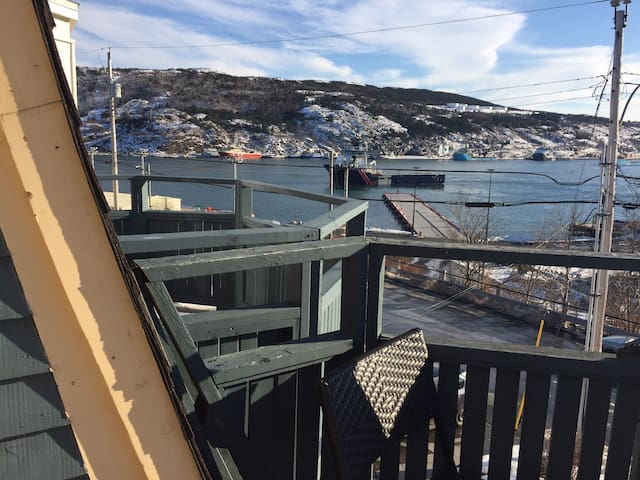 Harbour balcony view downtown St. John's NL