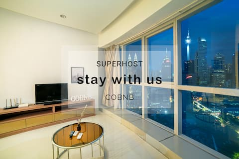 2 Bedroom apartment with nice KLCC view