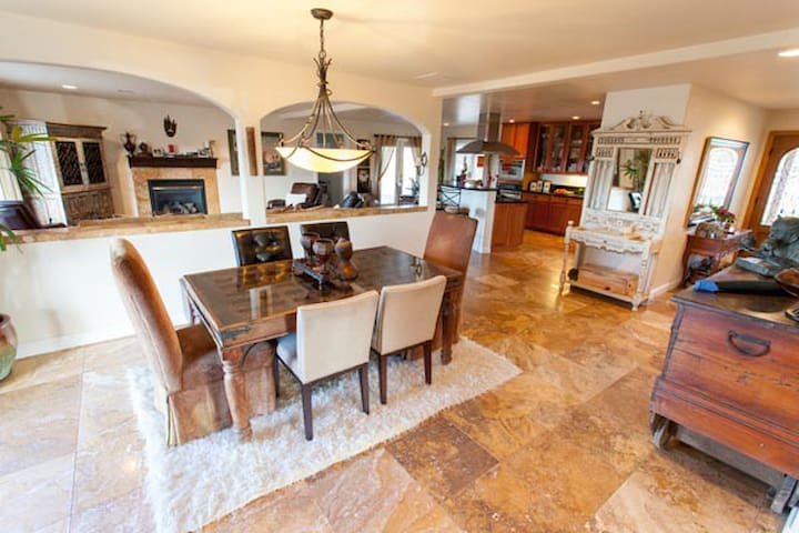 Main dining room open to kitchen & living room for great family time!