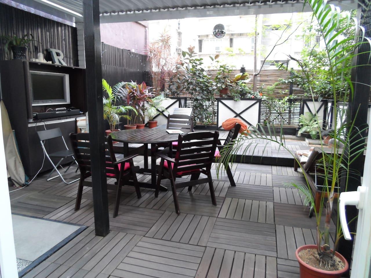 Unique apartment with huge patio