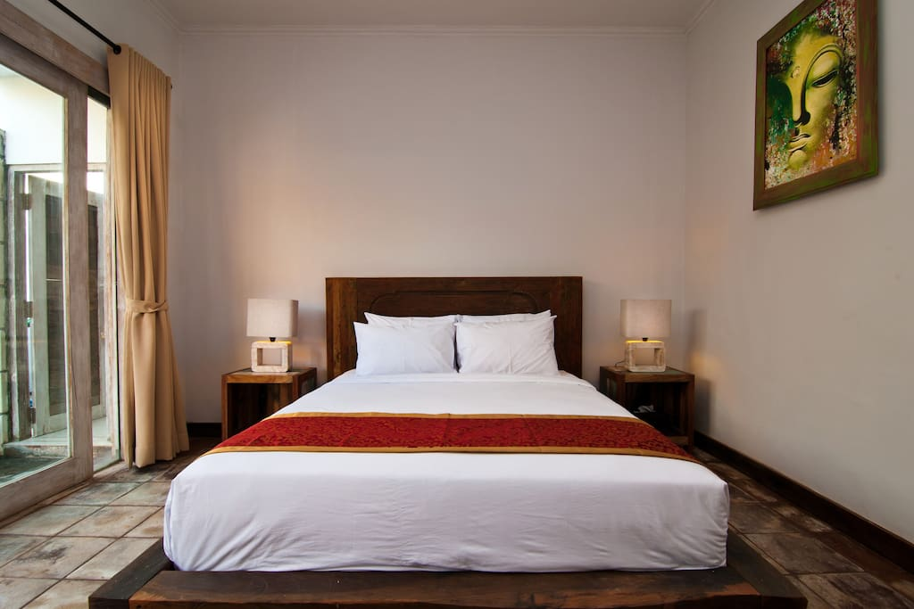 A comfortable double room to rest after enjoying Bali's sights