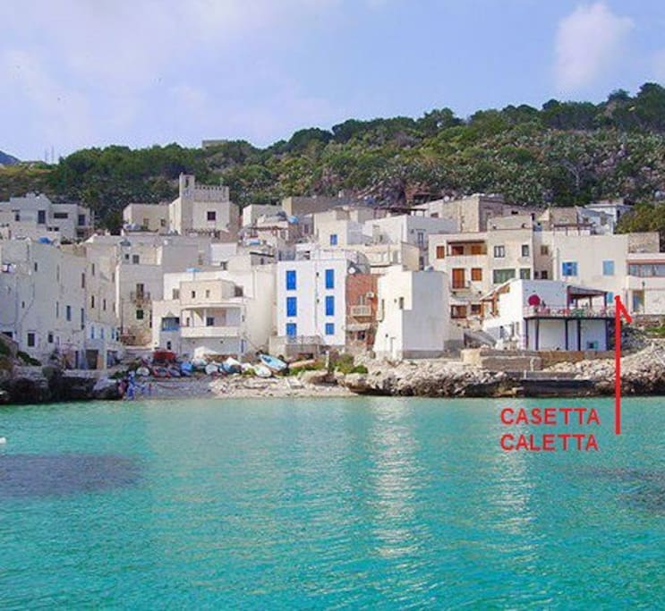 Casetta Caletta view from sea