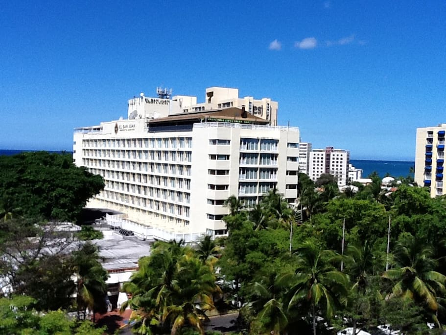View of Hotel San Juan from Balcony