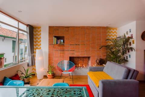 Cozy Loft Studio in La Candelaria