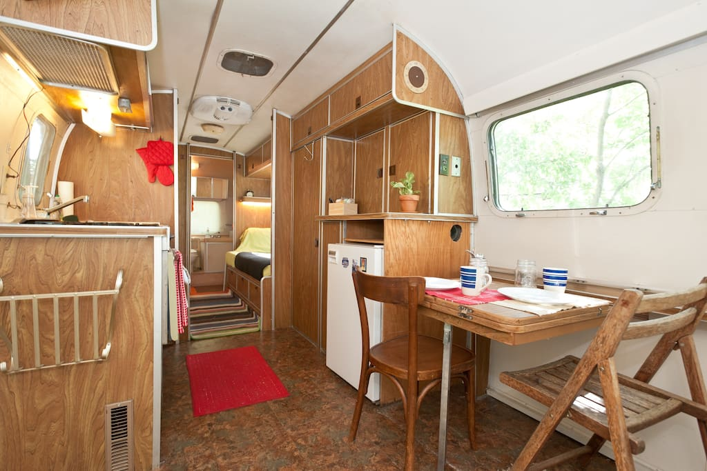 Vintage trailer home with fully vintage feel.