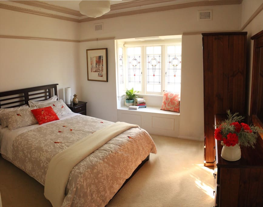 The 'red' bedroom