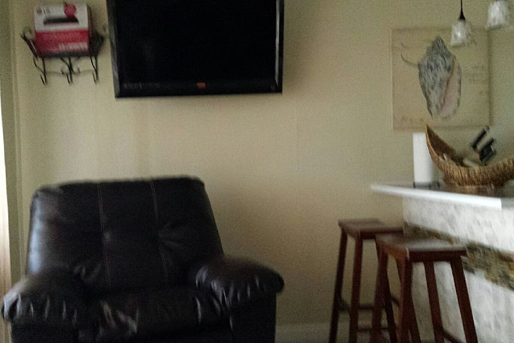 HDTV mounted on the wall