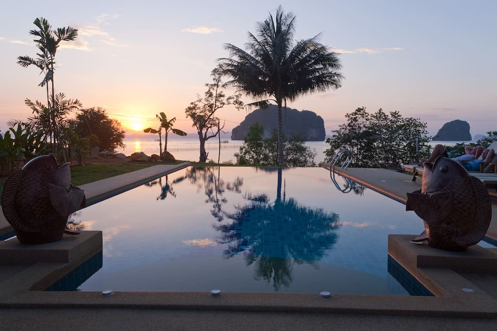 Pool and sunset view
