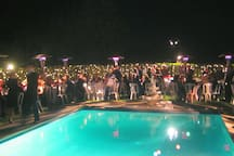 Ask about event rentals. Here is a party by the pool.