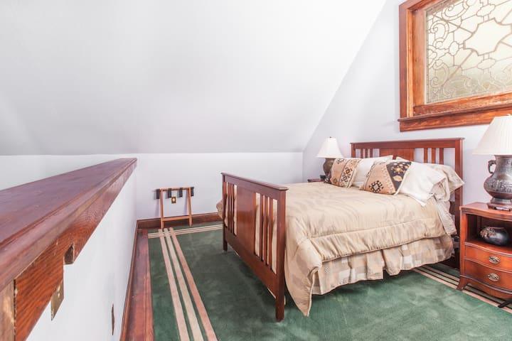Bridge Cottage Loft bedroom with double bed