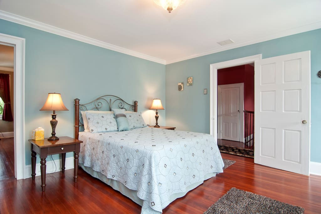 Relax and enjoy the garden views in the Garden View Guestroom with Full Bed