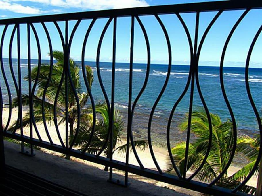 View from ocean side bedroom