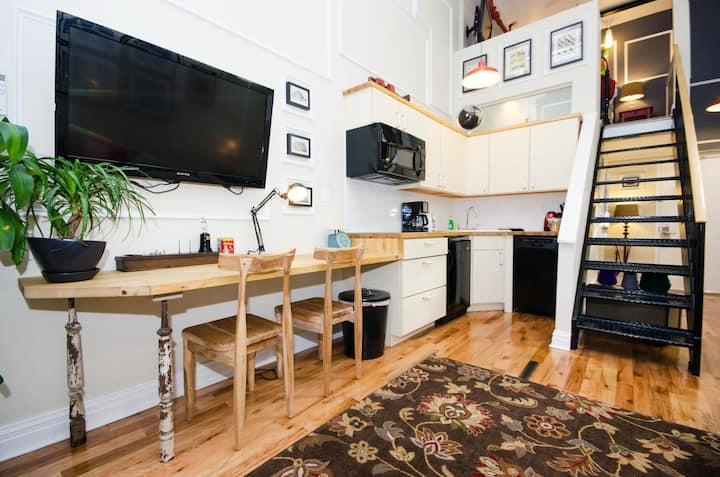 Duplex Loft Suite with Patio