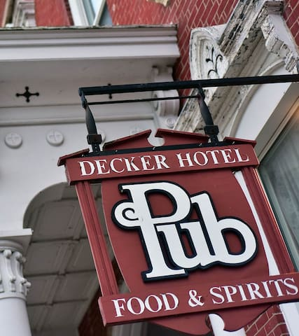 Decker Hotel. Step back to 1875.
