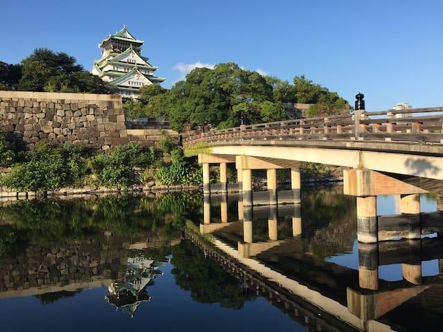 大阪城公园附近三层一户建、机场接送、自由行包车、口袋Wi-Fi、订餐、环球影城门票等