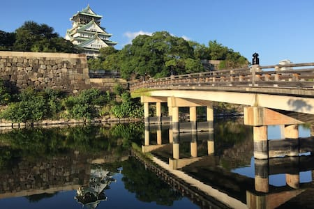 大阪城公園附近独栋三层小楼,适合多人家族旅行居住,可机场接送包车。 - Ōsaka