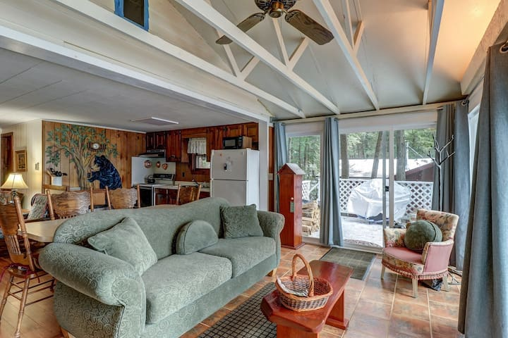 Lakefront cottage w/ full kitchen, sandy beach, dock and swim float