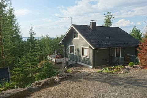 A nice log house on beautiful location