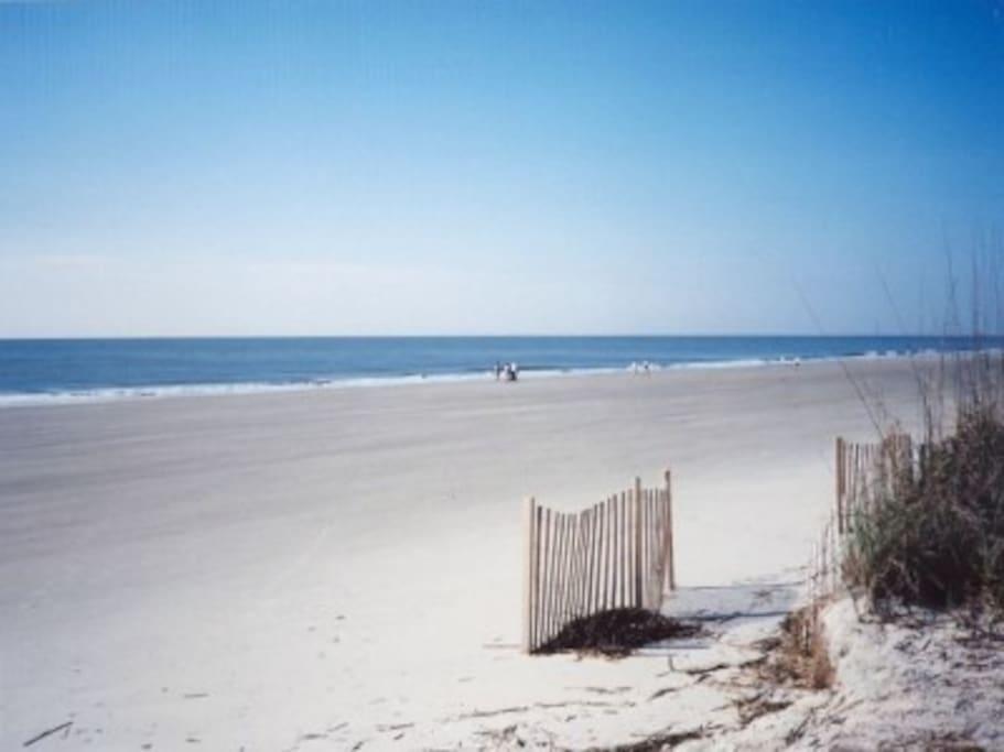 Private pristine beach