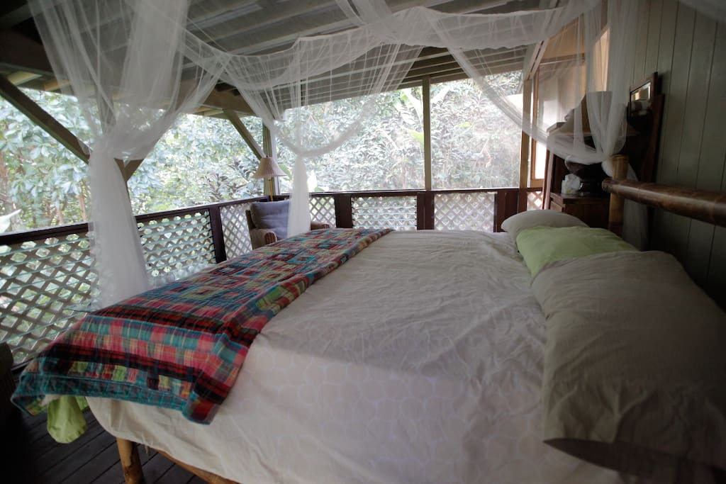 King bed with jungle view -  what could be better?