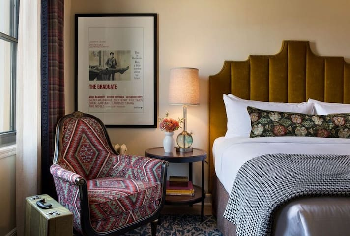 Cozy up in our Graduate Queen Room - Advance Purchase