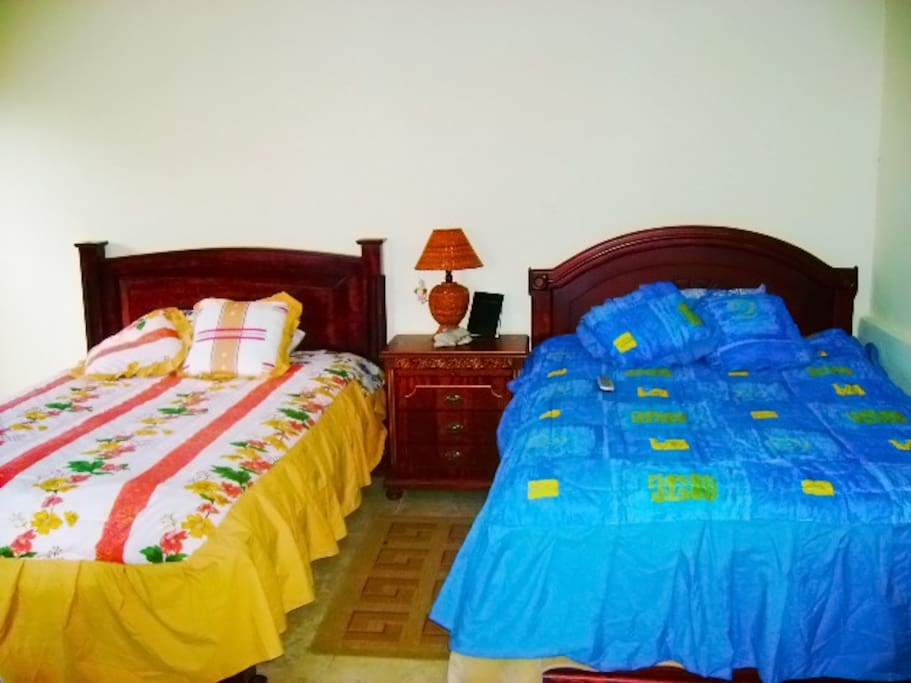 Comfortable double beds.