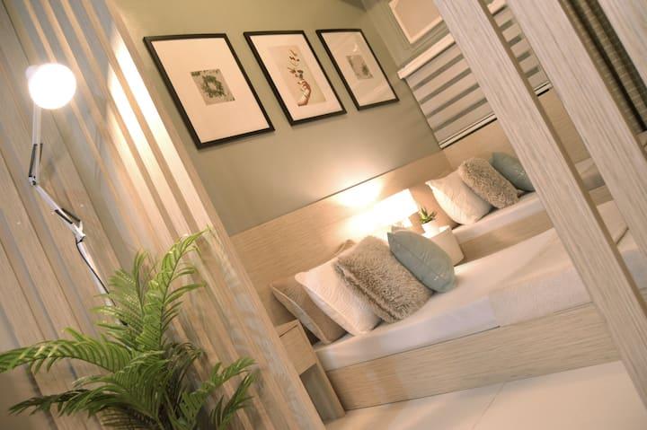 Cozy Scandinavian-Inspired Studio+2 Single beds