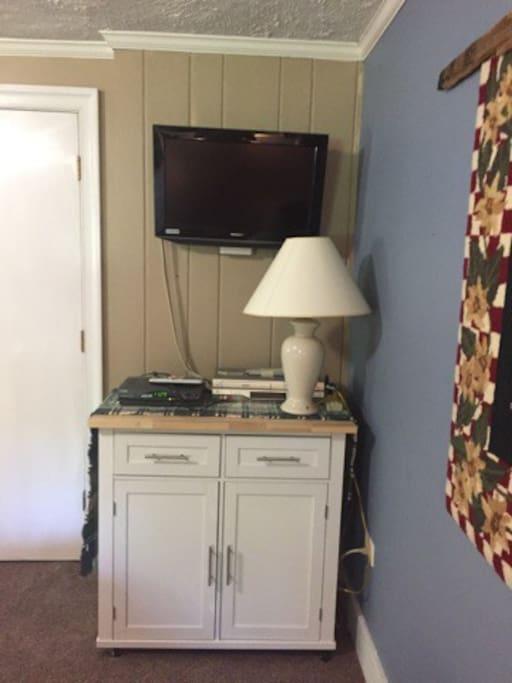 TV in main bedroom