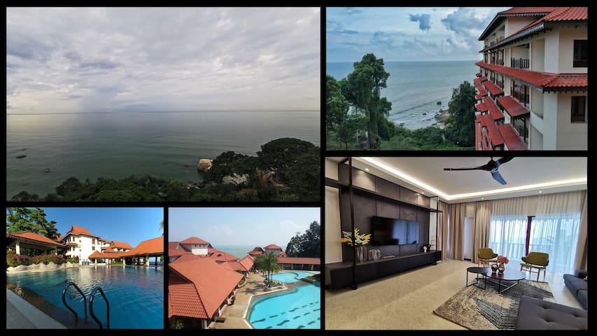 Full Seaview Kuantan Tembeling Resort 3Bedrooms GF