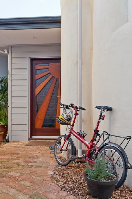 Hand crafted front door.