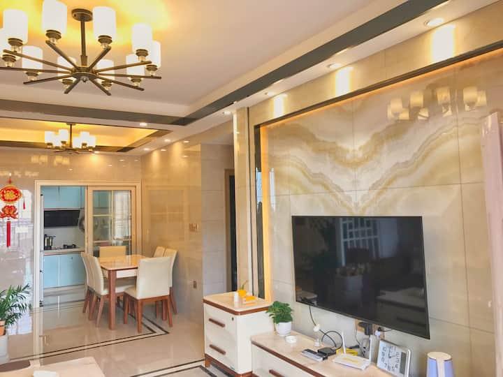 沙扒湾沙巴岛精装修海景度假公寓(三房两厅两卫一厨+免费停车位)