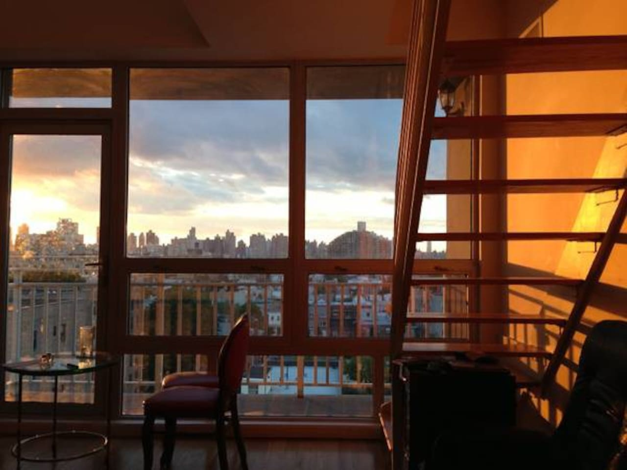 Living Room with View of Manhattan