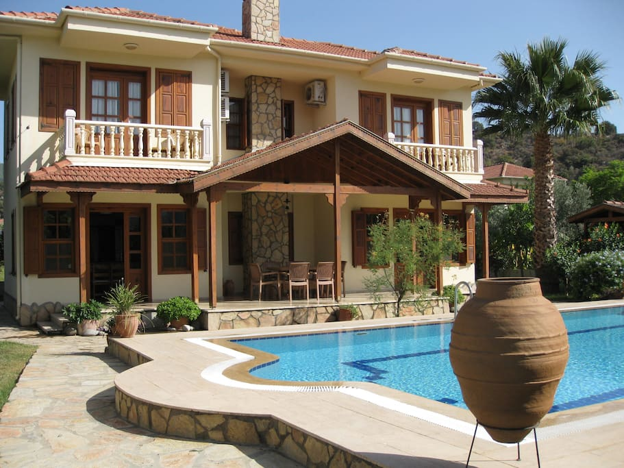 Villa Hatira across your own private pool.