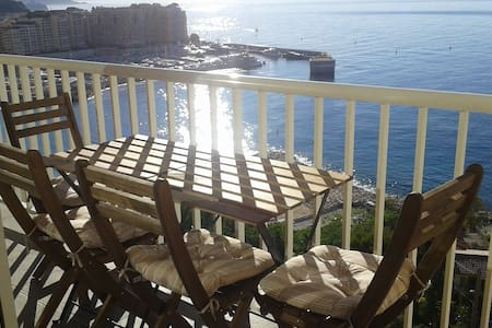 Monaco Cap d'Ail - Beach, Balcony and BBQ. - Cap-d'Ail