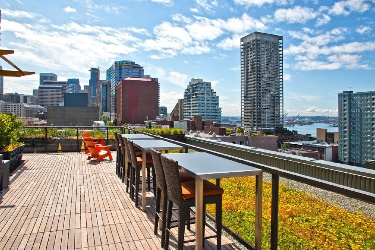 Beautiful Rooftop Deck - with stunning views of the water & downtown. Enjoy the BBQ too!