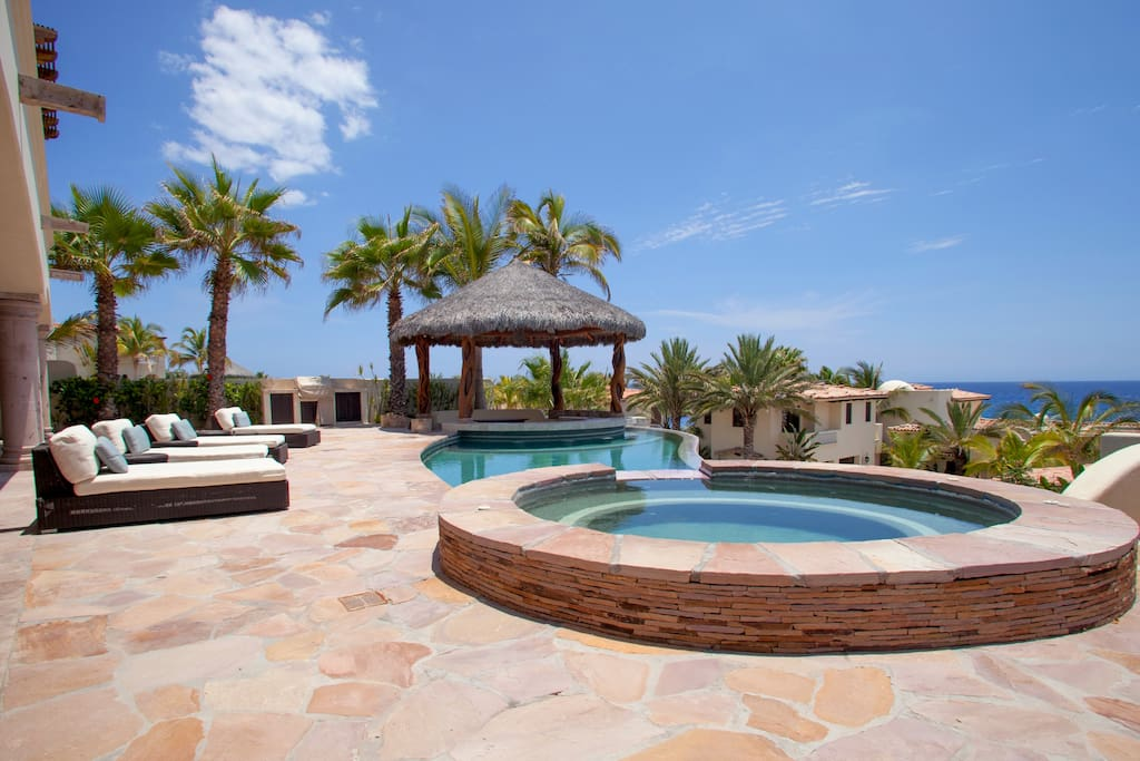 Private pool, hot tub, palapa with fridge, bar, just everything you need....