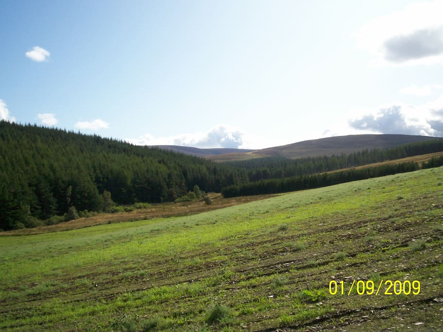 One of the views from the Bothy