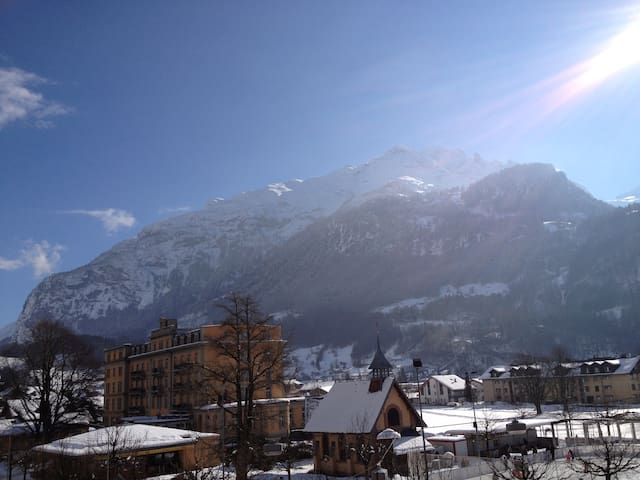 Room in Heart of Swiss Alps village - Meiringen - Apartamento