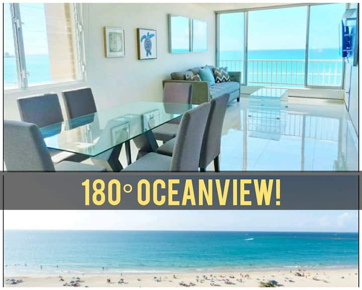 2BDR Million$ Oceanfront view Wifi Parking Beach