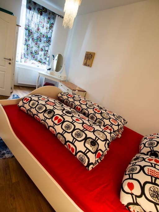 qiuet room with big double bed