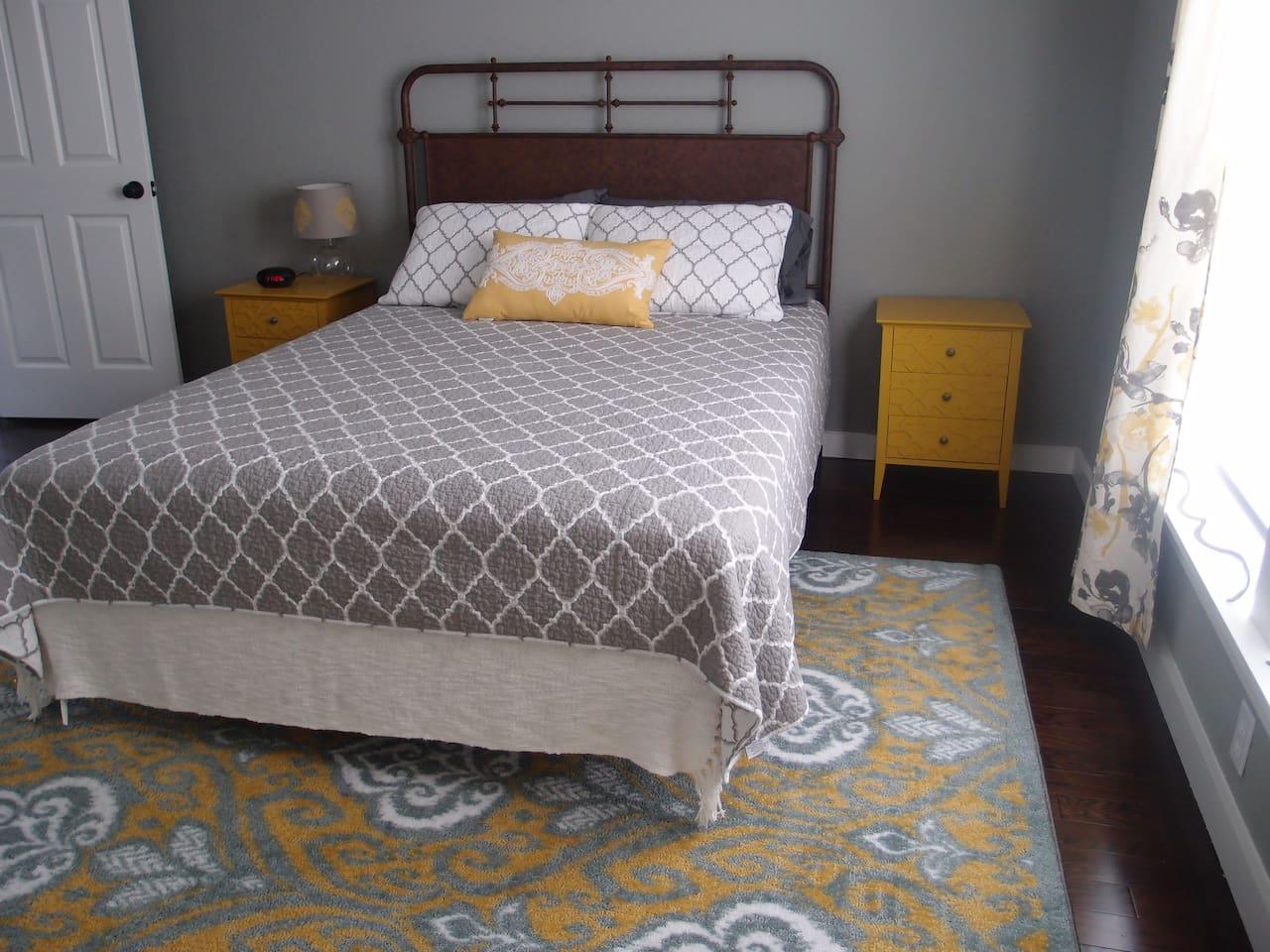 Bedroom #1 with a queen bed