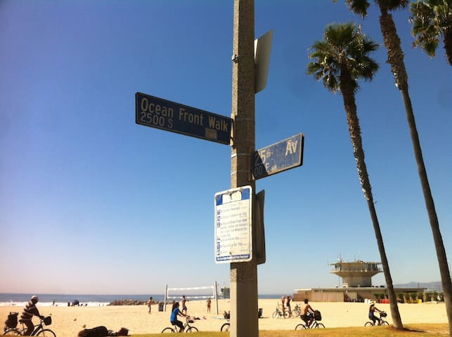 25th Ave & Ocean Front Walk. Literally 20 feet from the beach!