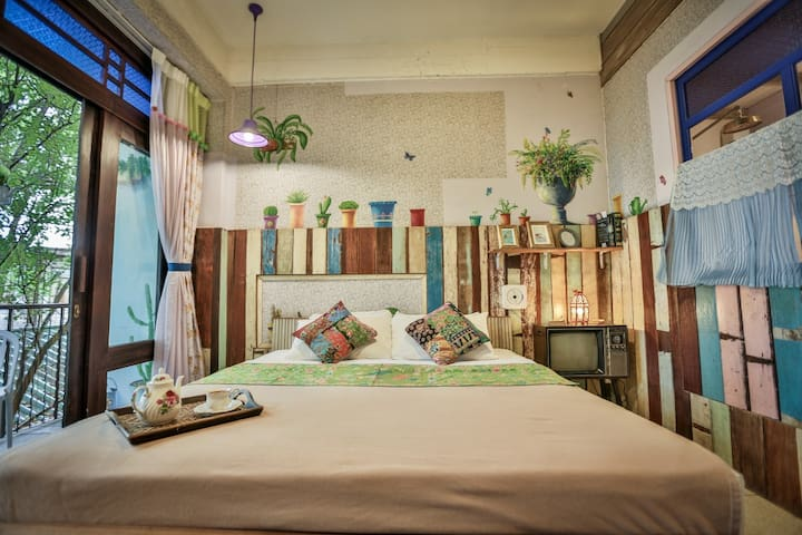 Retro style Double room in Phranakorn Nornlen