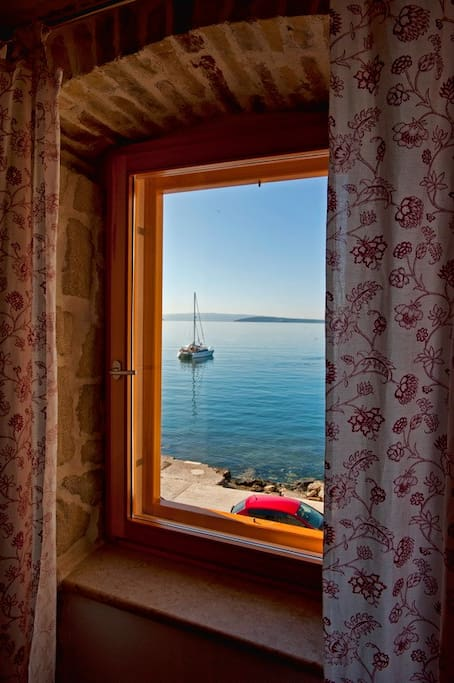 Gorgeous view of the islands from the south living room window