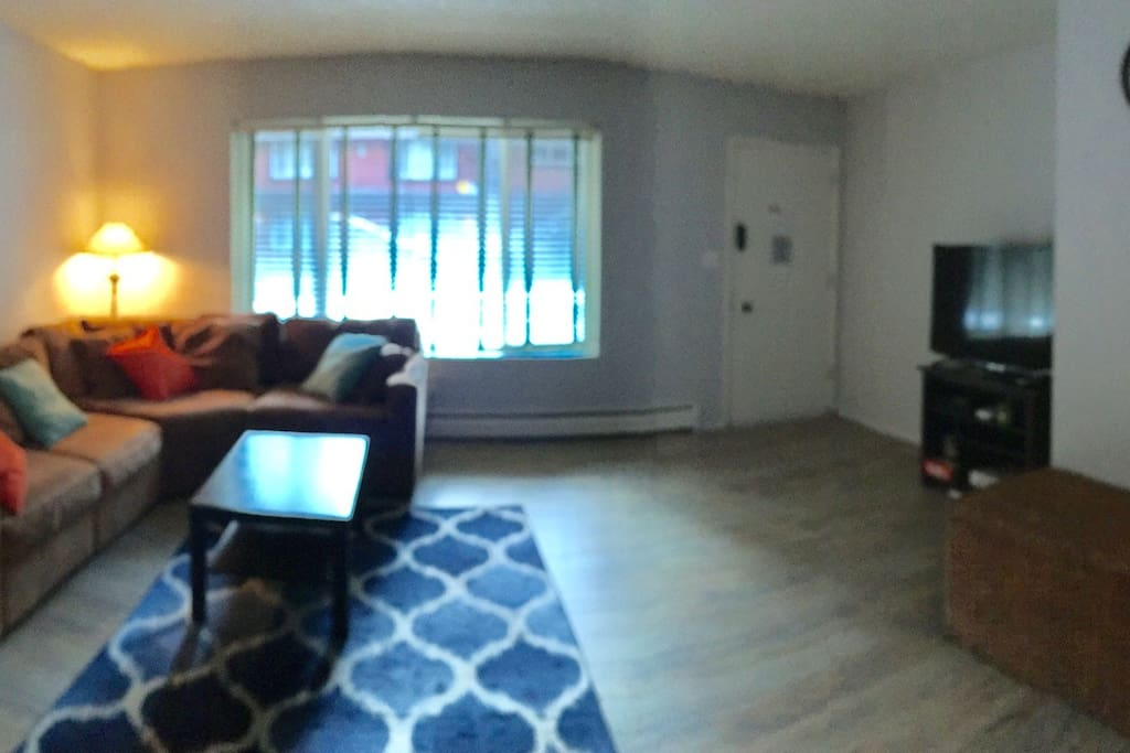 New flooring makes for a great living room area!