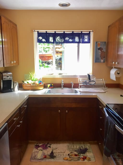 Cozy kitchen with new stainless steel appliances and all the basic comforts for a fully functional kitchen.