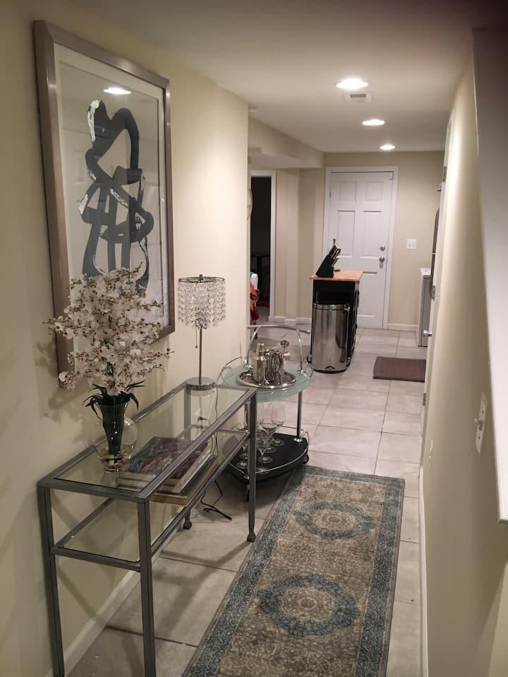Convenient luxury basement apt
