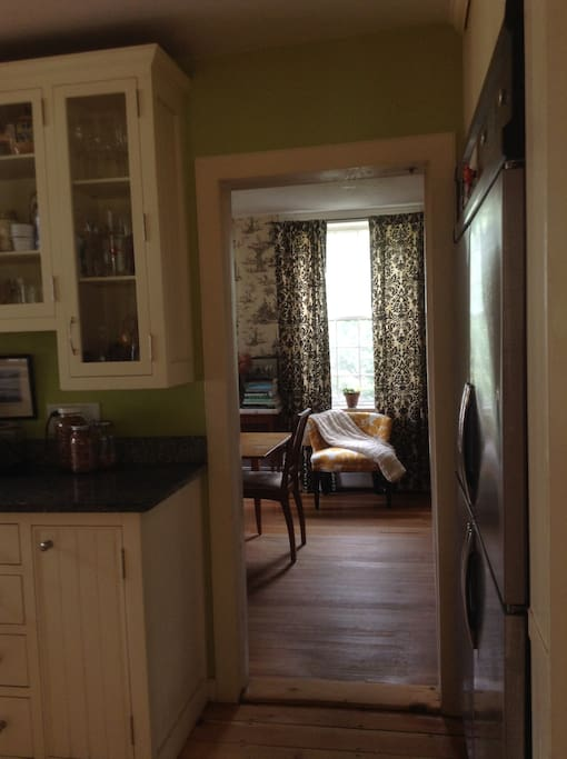 View from kitchen to dining room